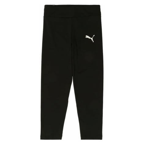 PUMA Spodnie 'Active' czarny / biały
