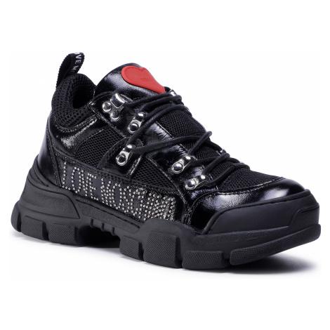 Sneakersy LOVE MOSCHINO - JA15434G0BJG200A Nero/Rete Nea