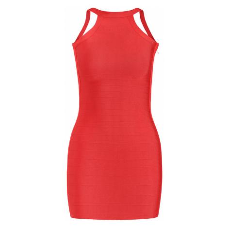 Marciano Guess Sukienka koktajlowa 92G720 5012Z Czerwony Slim Fit