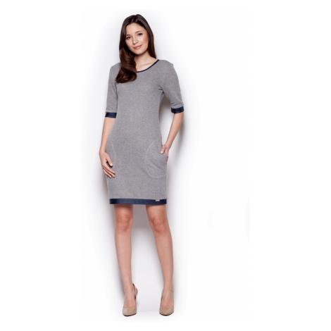 Sukienka damska M348 dark grey Figl