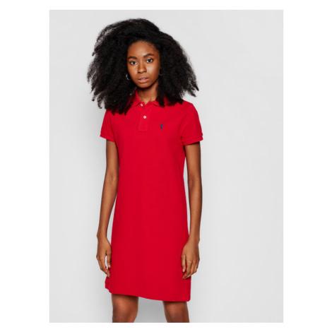 Polo Ralph Lauren Sukienka codzienna Polo Shirt Shop 211799490006 Czerwony Regular Fit Marc O'Polo