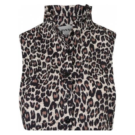 Pinned by K Kołnierz 'Collar ruffle leopard' brązowy