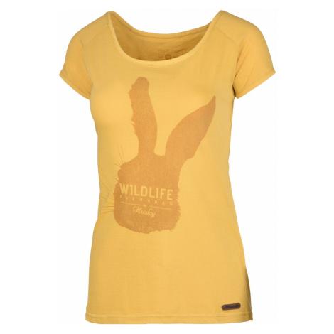 Women's T-shirt Rabbit L cream yellow Husky