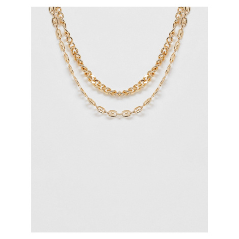 ASOS DESIGN mixed chunky chains in gold tone