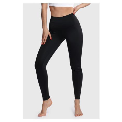 Damskie czarne legginsy sportowe Belly Control Mrs Fitness