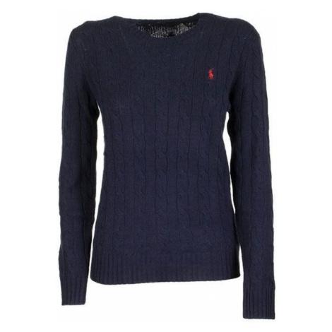 Kabel drutach z wełny i kaszmiru sweter Ralph Lauren