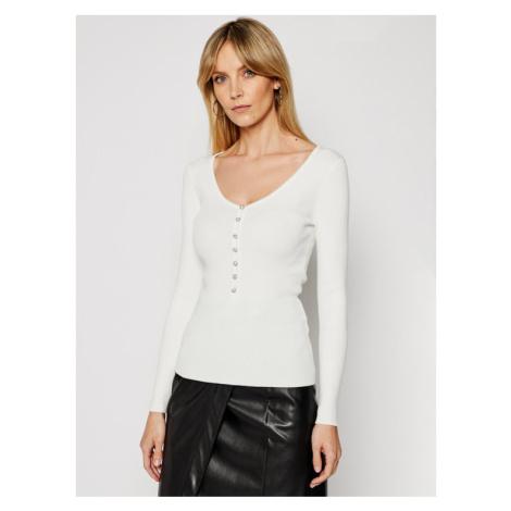 Morgan Sweter 211-MFLORA Biały Slim Fit