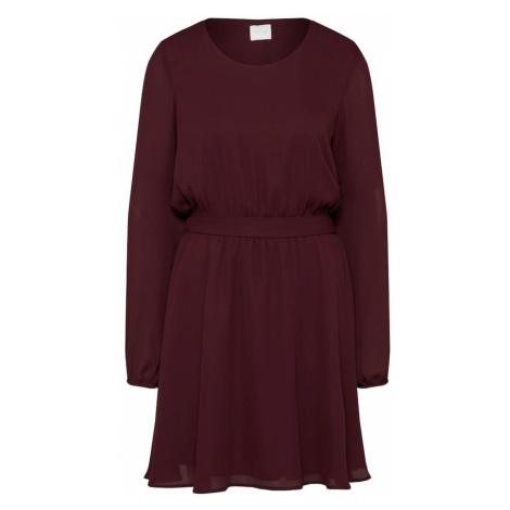 VILA Sukienka wiśniowo-czerwony