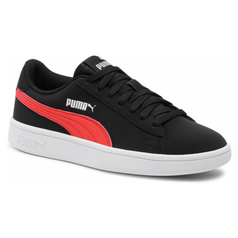 Sneakersy PUMA - Smash v2 Buck Jr 365182 26 Black/Poppy Red