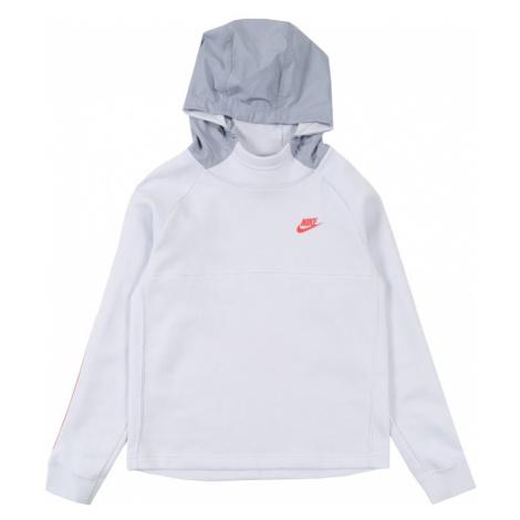 Nike Sportswear Bluza biały / gołąbkowo niebieski / czerwony