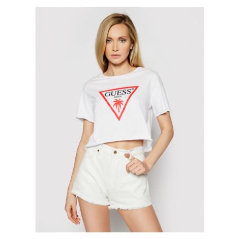Guess T-Shirt E02I01 JA911 Biały Regular Fit