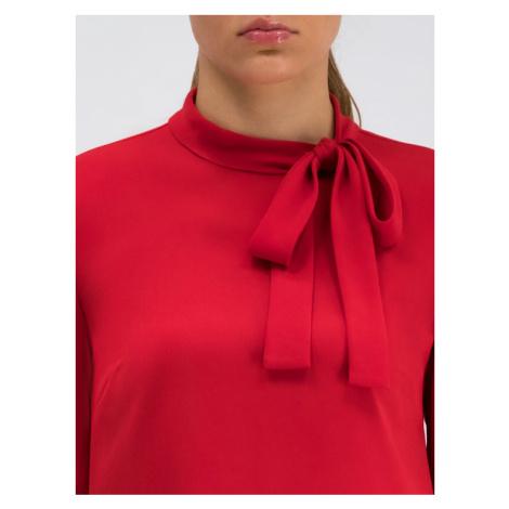 Red Valentino Sukienka koktajlowa SR0VAH90 Czerwony Regular Fit