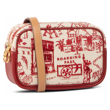 Torebka TORY BURCH - Perry Printed Canvas Mini Bag 64326 Red Destination 987