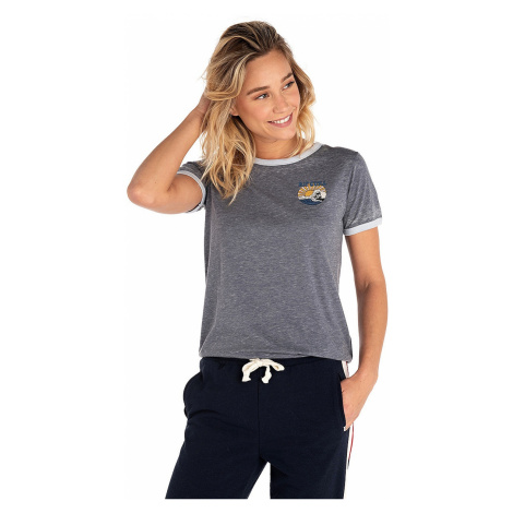 T-shirt Rip Curl Shorebreak Ringer - Total Eclipse