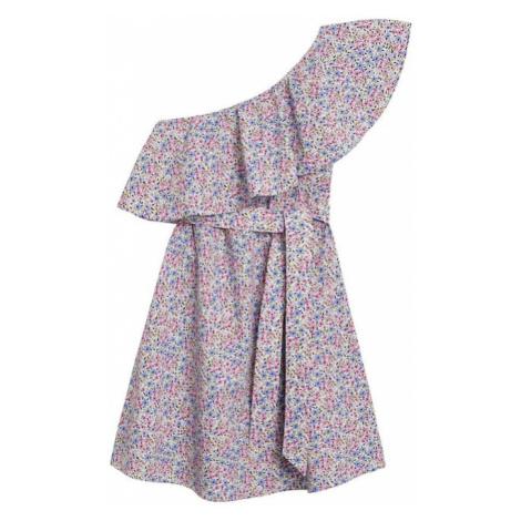 MANGO Letnia sukienka 'Lilack' fioletowy / biały / niebieski