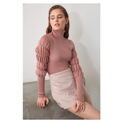 Bluza z dzianinami Trendyol Rose Dry Arm Gipeli