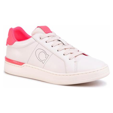 Sneakersy COACH - Lowline Ltr Low Top G5040 10011275 Chalk/Neon Pink
