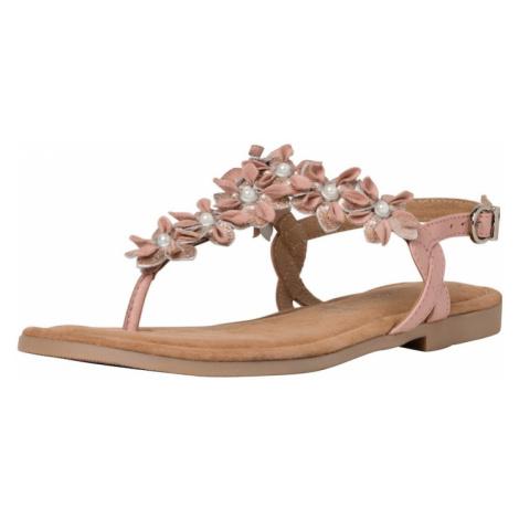 MARCO TOZZI Japonki srebrny / różowy pudrowy