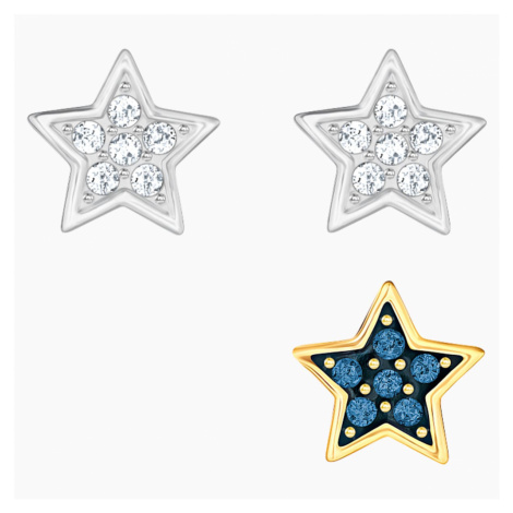 Crystal Wishes Star Pierced Earring Set, Multi-colored, Mixed metal finish Swarovski