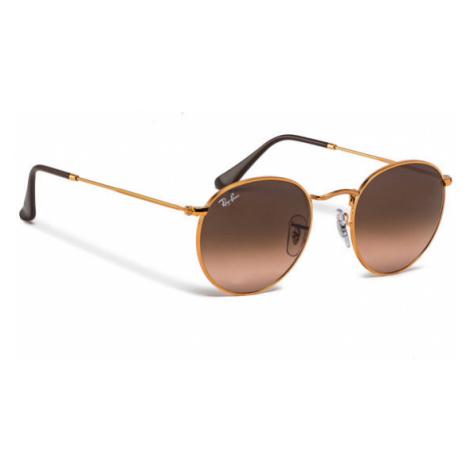 Ray-Ban Okulary przeciwsłoneczne Round Metal 0RB3447 9001A5 Brązowy