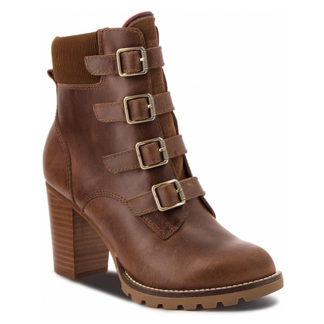 Botki TOMMY HILFIGER - Basic Hiking Heeled FW0FW03570 Winter Cognac 906