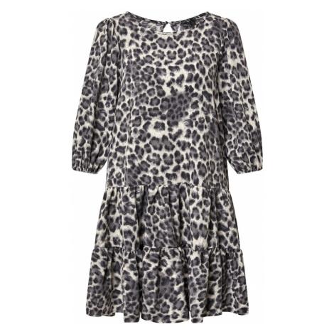 AX Paris Sukienka szary / biały