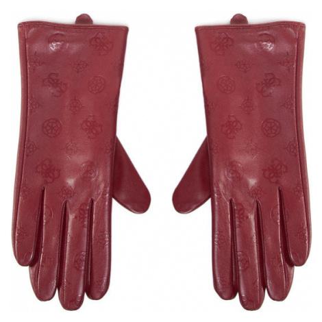 Guess Rękawiczki Damskie Not Coordinated Gloves AW8537 POL02 Bordowy