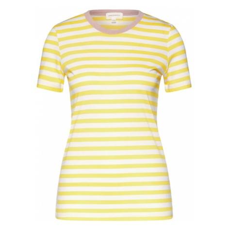ARMEDANGELS Koszulka 'LIDAA BOLD STRIPES' kremowy / żółty