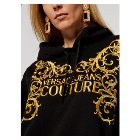 Versace Jeans Couture Bluza B6HZB71T Czarny Regular Fit