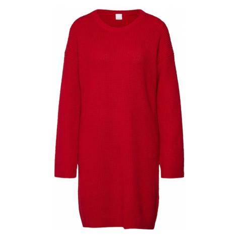 BOSS Sukienka z dzianiny 'Itarisa' czerwony Hugo Boss
