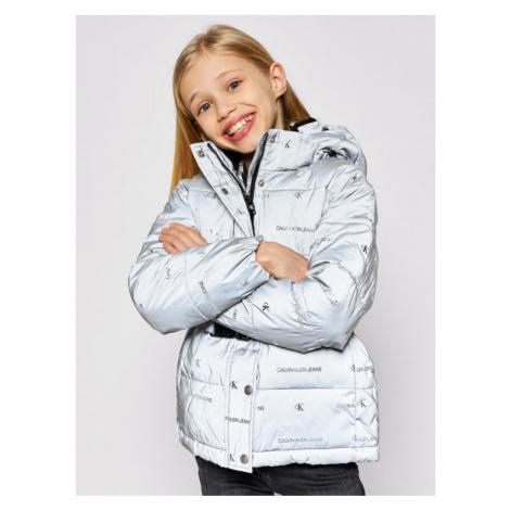 Calvin Klein Jeans Kurtka puchowa Reflective Logo IG0IG00708 Szary Regular Fit