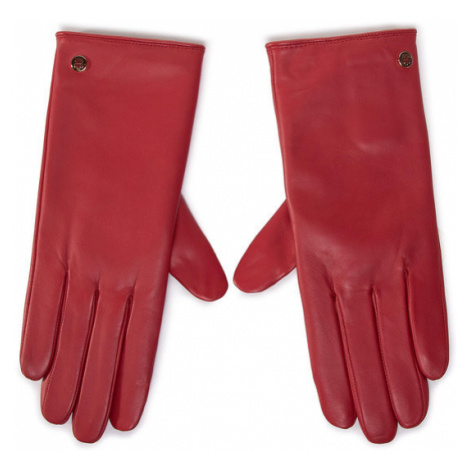 Tommy Hilfiger Rękawiczki Damskie Th Gloves AW0AW08944 Czerwony