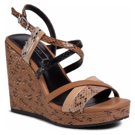 Sandały LIU JO - Lucy 16 Wedge Sandal SA0065 EX005 Desert 30607