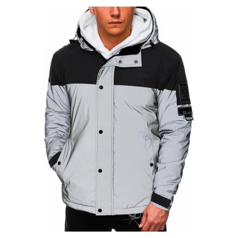 Ombre Clothing Men's winter reflective jacket C462