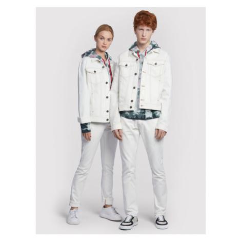 Vistula Kurtka jeansowa Unisex Egon White RX1032 Biały Regular Fit
