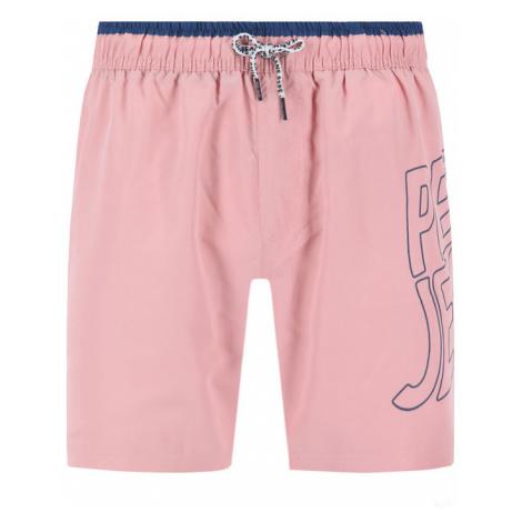 Pepe Jeans Szorty kąpielowe Fin PMB10243 Różowy Regular Fit