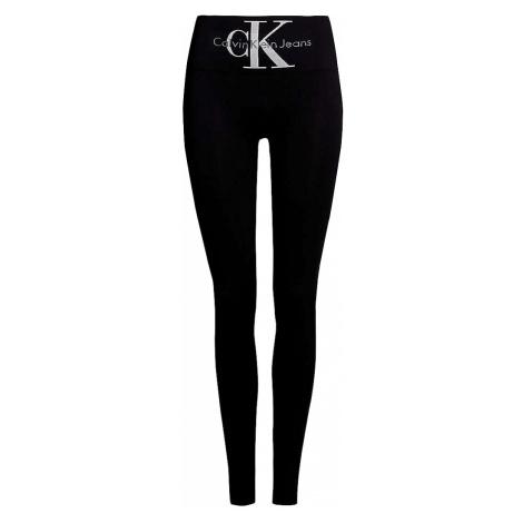 Calvin Klein czarne leginsy z wysokim stanem Jeans Logo High Waist