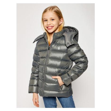 Szare dziewczęce kurtki zimowe