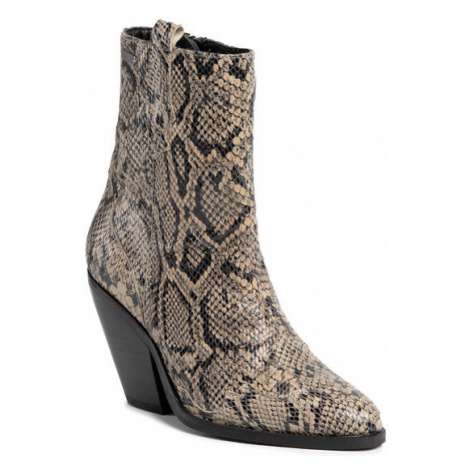 Pepe Jeans Botki Hampsted Snake PLS50363 Beżowy