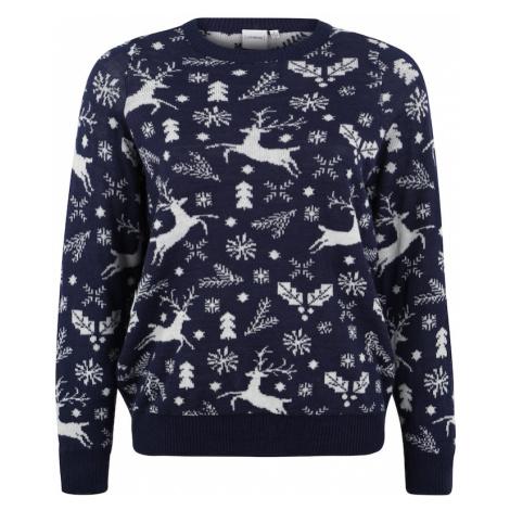 Junarose Sweter kobalt niebieski / biały