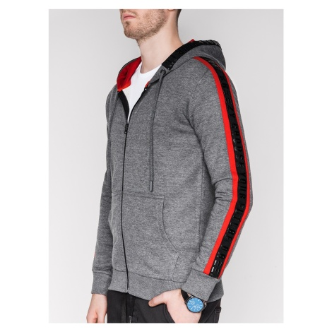 Ombre Clothing Men's zip-up hoodie B906