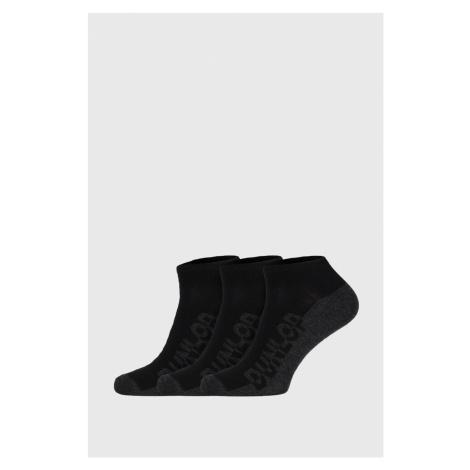 Trzypak czarnych skarpetek Dunlop