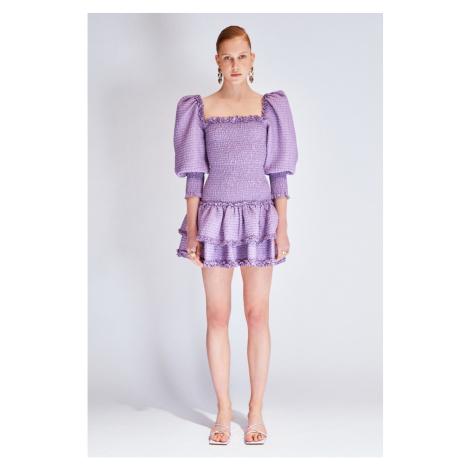 Koton Light Purple Covered Detailed Dress