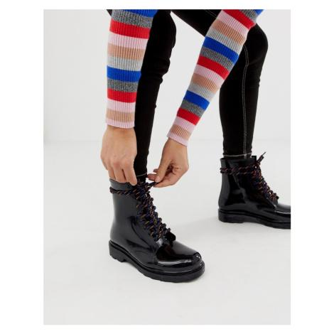 ASOS DESIGN Global hiker lace up rain boots