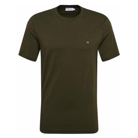 Calvin Klein Koszulka biały / oliwkowy