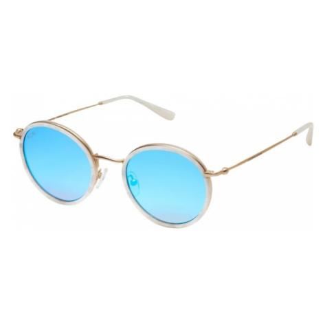 Kapten & Son Okulary przeciwsłoneczne 'Amsterdam' perłowo biały / niebieski