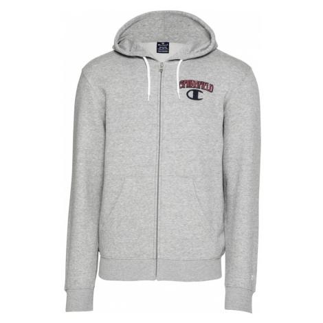 Champion Authentic Athletic Apparel Bluza rozpinana nakrapiany szary / czarny / czerwony
