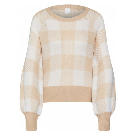 IVYREVEL Sweter 'BALLOON JACQUARD' beżowy