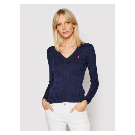Polo Ralph Lauren Sweter Kimberly 211580008007 Granatowy Regular Fit