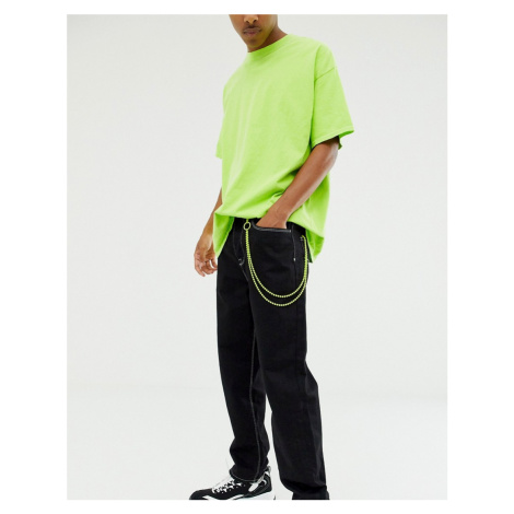 ASOS DESIGN jean key chain in neon